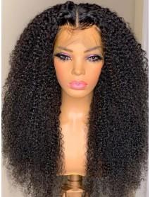 AC015--brazilian virgin human hair tiny curl 360 wig