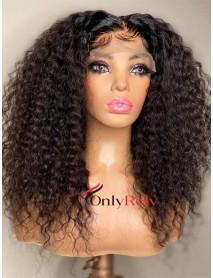 HD040--brazilian virgin exotic curl 5x5 HD lace closure wig