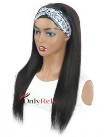HB020--headband yaki straight brazilian virgin human hair wigs