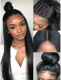 AC160--silk straight brazilian virgin human hair 360 Wig
