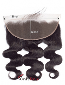Brazilian virgin 13x6 Lace Frontal Pre Plucked With Baby Hair【LC104】