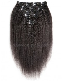 brazilian virgin Italian yaki Clips in hair wefts-【CW102】