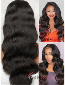 LF130--Brazilian Virgin body wave human hair 13x4 Lace Front Wig