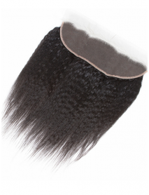 kinky straight Brazilian virgin natural color 13x4 lace frontal【LC105】