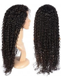 brazilian virgin water wave human hair full lace wig--【BW070】