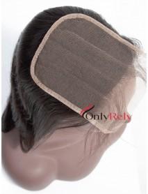 HDC001--5x5 invisible HD Lace Closure Brazilian Virgin human hair