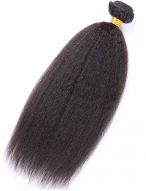 WF104--brazilian virgin kinky straight hair extensions weft