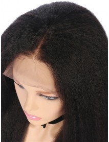 italian yaki bleached knots brazilian virgin human hair full lace wig--【BW080】
