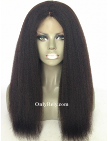 LF080--brazilian virgin Italian yaki human hair glueless lace front wig
