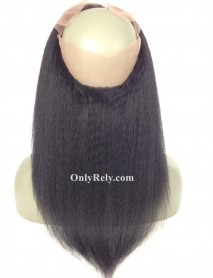 Italian yaki brazilian virgin 360 lace frontal bleached knots【LC361】