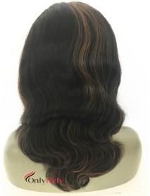 UP002--Italian yaki Brazilian virgin human hair U-shaped wig