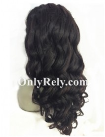 loose wave Brazilian Virgin bleached knots 360 lace Wig--【AC111】