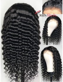 AC060--loose curly preplucked Brazilian Virgin human hair 360 Wig