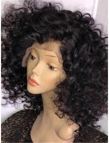 big curly brazilian virgin bleached knots 360 lace wig--【AC627】
