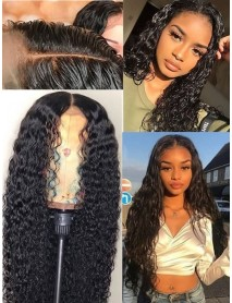 deep curly brazilian virgin pre-plucked 360 lace wig--【AC150】