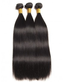 WF301--3 bundles Brazilian virgin natural color wefts in stock