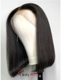 BOB002--brazilian vigin blunt straight with preplucked hairline 360 bob wig