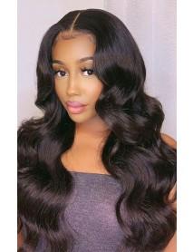 LF038--Brazilian virgin human hair loose wave 13x6 lace front wig