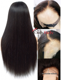 HD Lace front glueless wig 10A+ grade virgin hair 6 inch deep parting -【LF888】