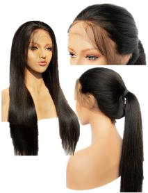 AC020--yaki straight brazilian virgin human hair 360 wig