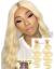 2 Bundles Color 613 Blonde 10A Virgin Hair Wefts In Stock--【WF203】